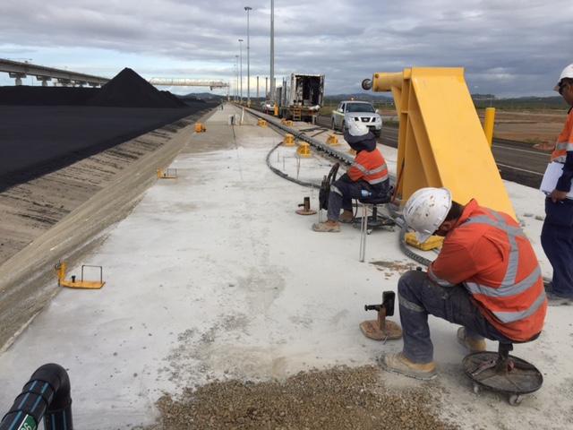 WICET Coal Terminal-Relevelling Conveyer Rail-Uretek