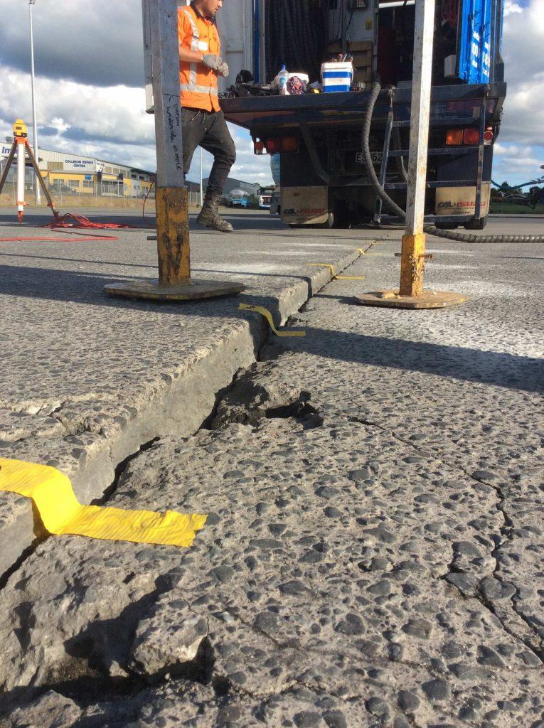 transport yard slab correction