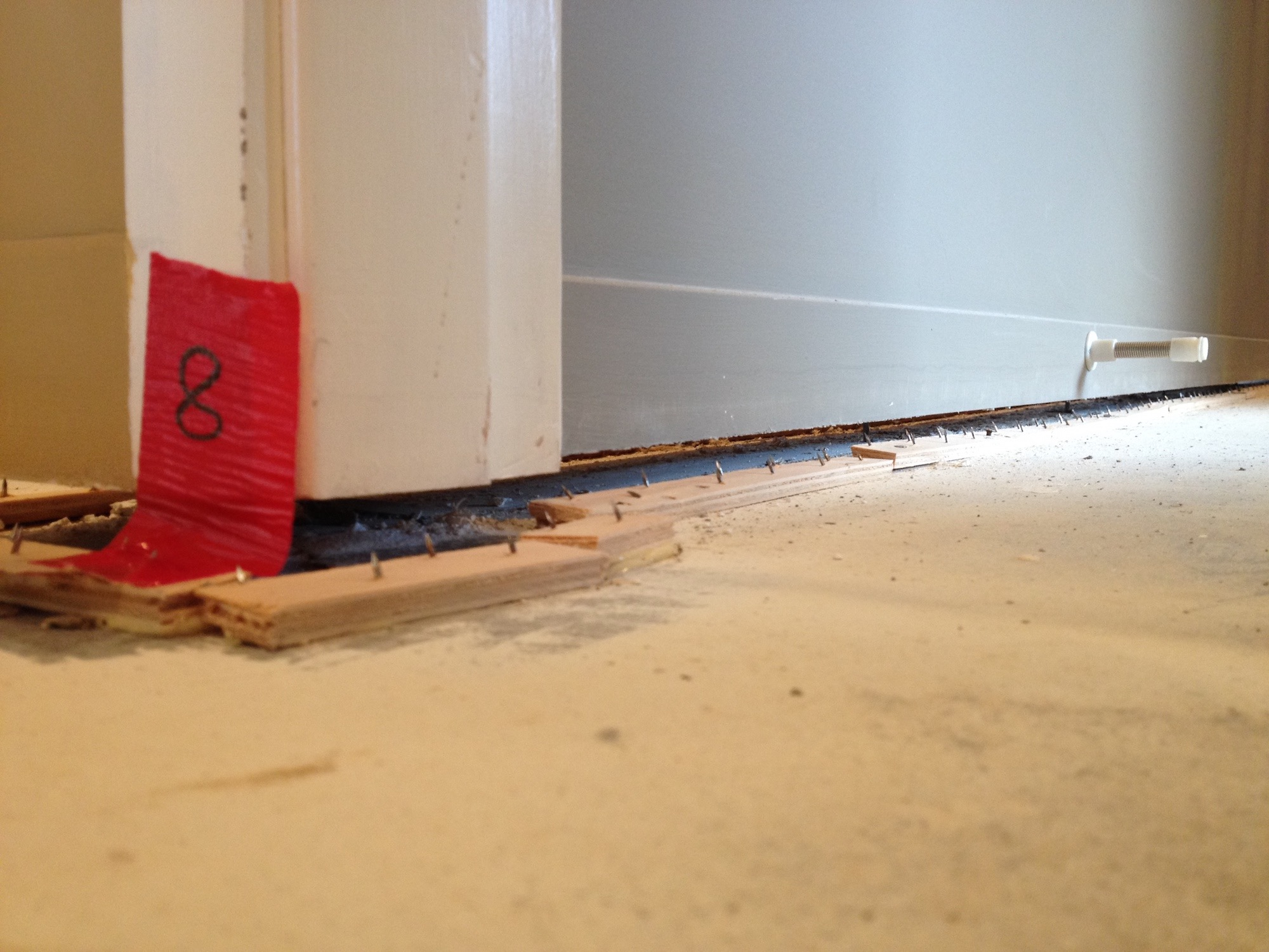Gap between wall and floor