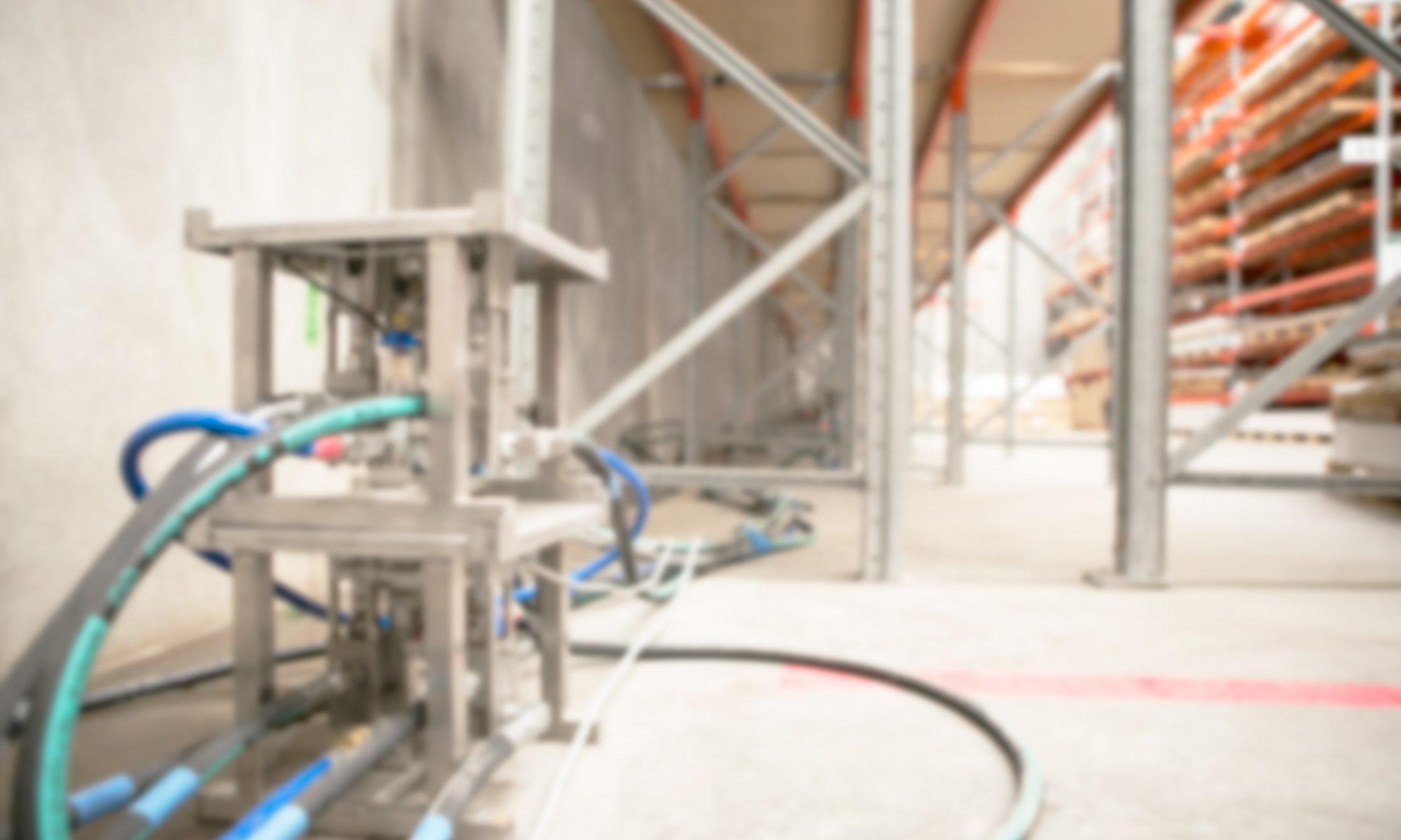 JOG machine in a warehouse