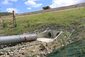 culvert relining on a crane with mainmark technician