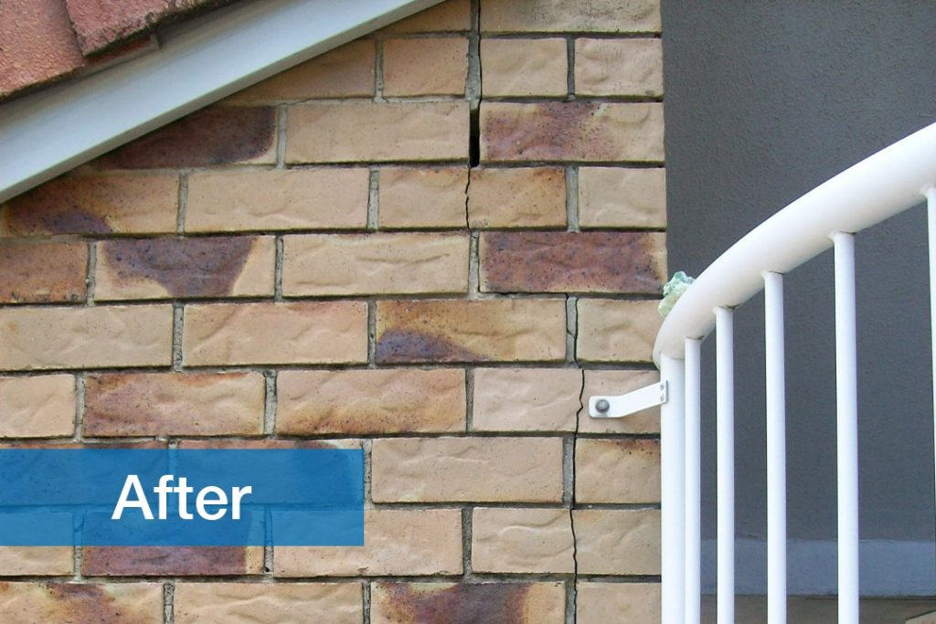 after image image of residential brick wall