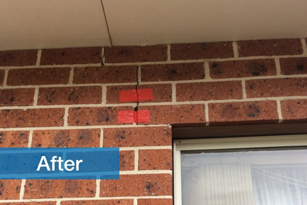 after image of residential brick wall