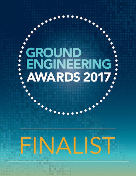 Ground engineering awards 2017 finalist