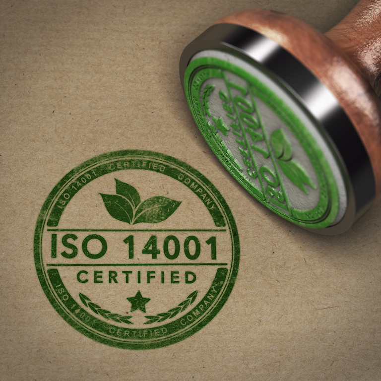 ISO 14001 Certified Company Label